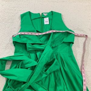 J. Crew Dresses - J crew green cotton wrap vneck shirt dress